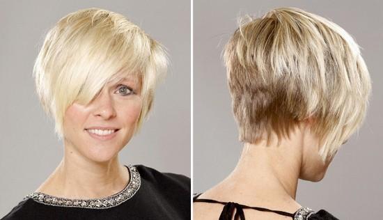 Короткие ассиметричные стрижки на тонкие волосы фото