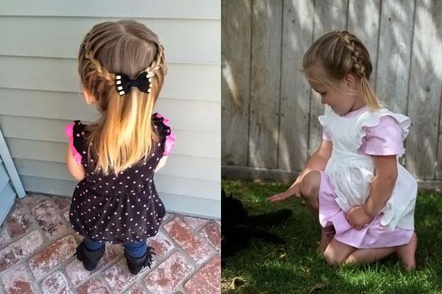 прически для детей на каждый день в садик